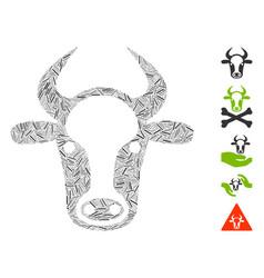 Dash collage cow head vector