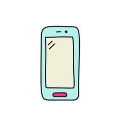 doodle smartphone icon vector image
