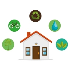 Eco friendly home environmental design vector