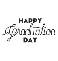 Graduation message with hand made font vector
