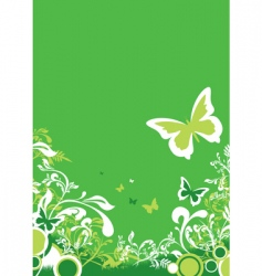 green floral vector image