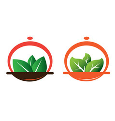 green meal vector image