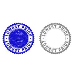 Grunge lowest price textured stamp seals vector