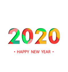 happy new year 2020 backgroun vector image