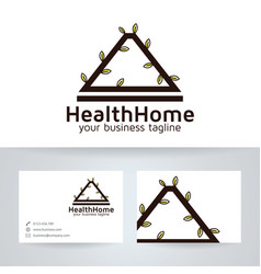Health home logo design vector
