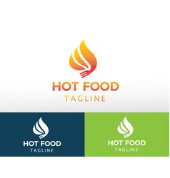 Hot food logo creative logo fire logo vector