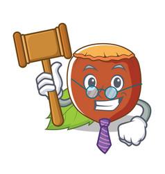 Judge hazelnut mascot cartoon style vector