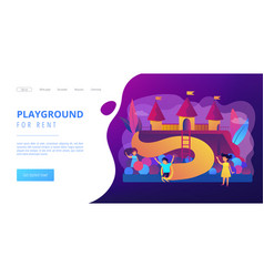 Kids playground concept landing page vector