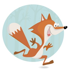 Little fox in the forest vector