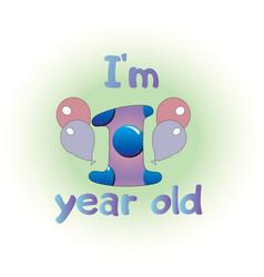 Logo for baone year birthday vector