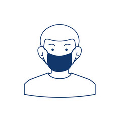 man in medical face mask icon vector image
