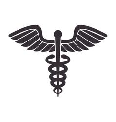 medical symbol caduceus vector image