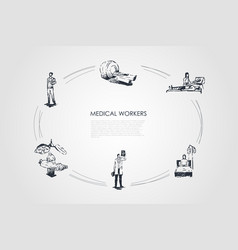 medical workers - doctor and medical workers vector image