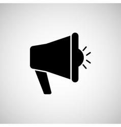 message with megafono design vector image