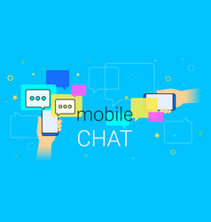 mobile chat and messenger on smartphone creative vector image