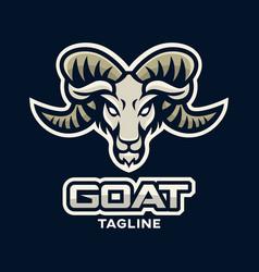 modern goat logo vector image