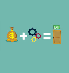 Money and ideas helps to find a way out vector