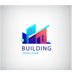 Multicolor real estate logo design for vector