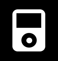 music player icon design vector image