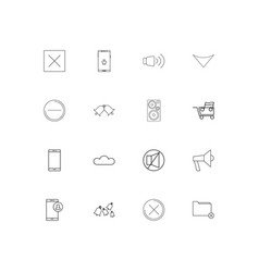 Music simple linear icons set outlined icons vector