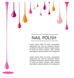 Nail polish poster white template vector