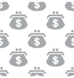 New Dollar purse seamless pattern vector image