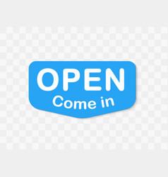 Open signboard invitation template inside vector