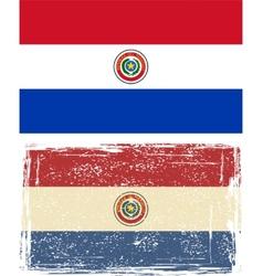 Paraguayan grunge flag vector image
