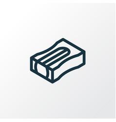 pencil sharpener icon line symbol premium quality vector image