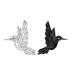 Polygonal hummingbird vector