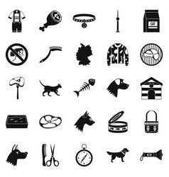 Pooch icons set simple style vector