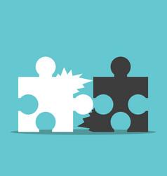 Puzzles bad teamwork concept vector