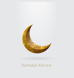 Ramadan kareem crescent moon with islamic ornament vector
