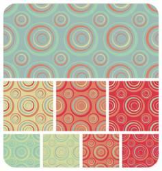retro circles pattern vector image