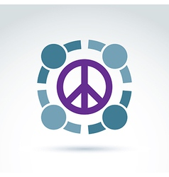 Round antiwar icon no war symbol People of the vector