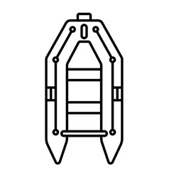 rubber boat icon outline style vector image