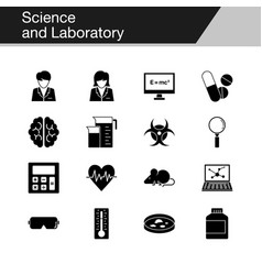 science and laboratory icons design vector image