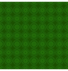 Seamless background with green design St Patrick vector image