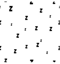 Seamless pattern with cartoon letters z good night vector