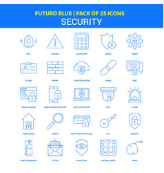 Security icons - futuro blue 25 icon pack vector