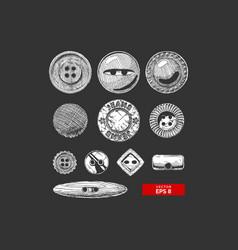 set button clothes vector image