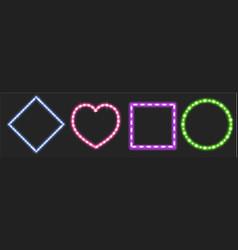 set led strips different shapes vector image