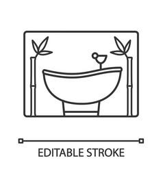 spa salon services linear icon vector image