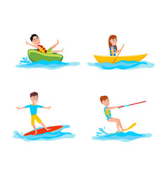Summer collection of sports vector