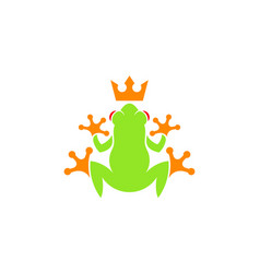 Tree frog logo vector