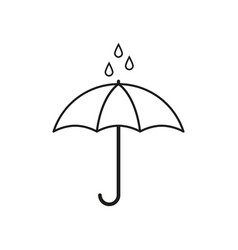 umbrella for rain icon vector image