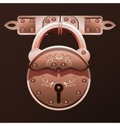 vintage padlock vector image