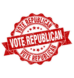 vote republican stamp sign seal vector image