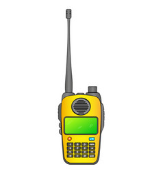 Walkie talkie radio station portable receiving vector