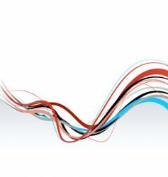 wavy lines vector image